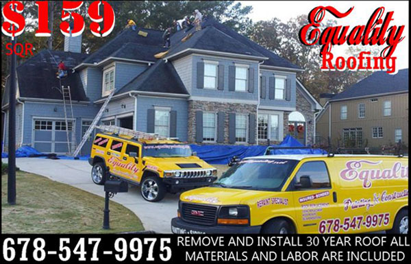$159 SQR Remove and install 30 year roof. All materials and labor are included.