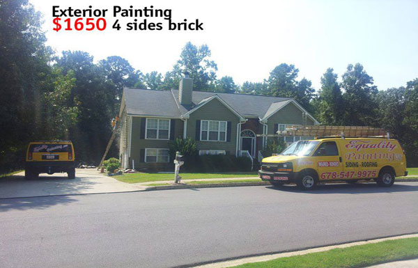 Exterior Painting $1,650 4 Sides Brick