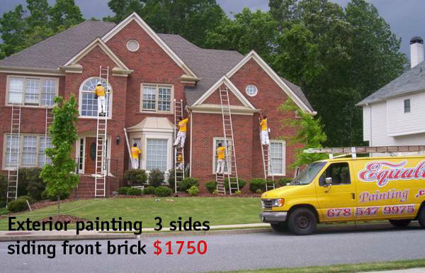 Exterior Painting 3 Sides Siding Front Brick $1,750